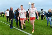 21 July 2018; A dejected Conor Meyler, left, and Colm Cavanagh of Tyrone comes off the field after the GAA Football All-Ireland Senior Championship Quarter-Final Group 2 Phase 2 match between Tyrone and Dublin at Healy Park in Omagh, Tyrone. Photo by Oliver McVeigh/Sportsfile