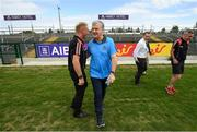 21 July 2018; Roscommon manager Kevin McStay in conversation with referee Ciaran Brannigan ahead of the GAA Football All-Ireland Senior Championship Quarter-Final Group 2 Phase 2 match between Roscommon and Donegal at Dr.Hyde Park in Roscommon. Photo by Ramsey Cardy/Sportsfile