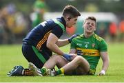 21 July 2018; Eoghan Bán Gallagher of Donegal is treated for an injury before being substituted during the GAA Football All-Ireland Senior Championship Quarter-Final Group 2 Phase 2 match between Roscommon and Donegal at Dr.Hyde Park in Roscommon. Photo by Ramsey Cardy/Sportsfile