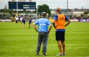 21 July 2018; Roscommon manager Kevin McStay and selector Liam McHale during the GAA Football All-Ireland Senior Championship Quarter-Final Group 2 Phase 2 match between Roscommon and Donegal at Dr.Hyde Park in Roscommon. Photo by Ramsey Cardy/Sportsfile