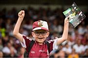 22 July 2018; Galway supporter Conor Armstrong, aged 6, from Ashbourne, Co. Meath, during the GAA Football All-Ireland Senior Championship Quarter-Final Group 1 Phase 2 match between Kildare and Galway at St Conleth's Park in Newbridge, Co Kildare. Photo by Sam Barnes/Sportsfile