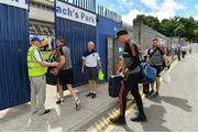 22 July 2018; Kieran Donaghy of Kerry and members of the Kerry squad arrive prior to the GAA Football All-Ireland Senior Championship Quarter-Final Group 1 Phase 2 match between Monaghan and Kerry at St Tiernach's Park in Clones, Monaghan. Photo by Brendan Moran/Sportsfile