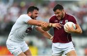 22 July 2018; Damien Comer of Galway in action against Fergal Conway of Kildare during the GAA Football All-Ireland Senior Championship Quarter-Final Group 1 Phase 2 match between Kildare and Galway at St Conleth's Park in Newbridge, Co Kildare. Photo by Sam Barnes/Sportsfile