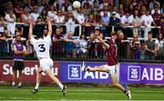 22 July 2018; Eoghan Kerin of Galway in action against David Hyland of Kildare during the GAA Football All-Ireland Senior Championship Quarter-Final Group 1 Phase 2 match between Kildare and Galway at St Conleth's Park in Newbridge, Co Kildare. Photo by Sam Barnes/Sportsfile