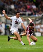 22 July 2018; Damien Comer of Galway in action against Eoin Doyle of Kildare during the GAA Football All-Ireland Senior Championship Quarter-Final Group 1 Phase 2 match between Kildare and Galway at St Conleth's Park in Newbridge, Co Kildare. Photo by Sam Barnes/Sportsfile