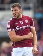 22 July 2018; Damien Comer of Galway reacts after his second half goal was ruled out by referee Seán Hurson for over-carrying during the GAA Football All-Ireland Senior Championship Quarter-Final Group 1 Phase 2 match between Kildare and Galway at St Conleth's Park in Newbridge, Co Kildare. Photo by Piaras Ó Mídheach/Sportsfile