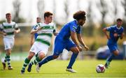 22 July 2018; Bastien Hénry of Waterford in action against Dylan Watts of Shamrock Rovers during the SSE Airtricity League Premier Division match between Waterford and Shamrock Rovers at the RSC in Waterford. Photo by Stephen McCarthy/Sportsfile