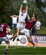 22 July 2018; Niall Kelly of Kildare in action against Johnny Duane, right, and Gareth Bradshaw of Galway during the GAA Football All-Ireland Senior Championship Quarter-Final Group 1 Phase 2 match between Kildare and Galway at St Conleth's Park in Newbridge, Co Kildare. Photo by Sam Barnes/Sportsfile