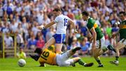 22 July 2018; Conor McManus of Monaghan scores his side's first goal during the GAA Football All-Ireland Senior Championship Quarter-Final Group 1 Phase 2 match between Monaghan and Kerry at St Tiernach's Park in Clones, Monaghan. Photo by Brendan Moran/Sportsfile