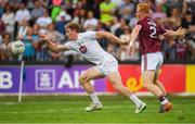 22 July 2018; Daniel Flynn of Kildare in action against Declan Kyne of Galway during the GAA Football All-Ireland Senior Championship Quarter-Final Group 1 Phase 2 match between Kildare and Galway at St Conleth's Park in Newbridge, Co Kildare. Photo by Piaras Ó Mídheach/Sportsfile