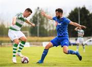 22 July 2018; Aaron Greene of Shamrock Rovers in action against David Webster of Waterford during the SSE Airtricity League Premier Division match between Waterford and Shamrock Rovers at the RSC in Waterford. Photo by Stephen McCarthy/Sportsfile