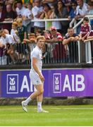22 July 2018; Daniel Flynn of Kildare leaves the field after being sent off by referee Seán Hurson in the second half during the GAA Football All-Ireland Senior Championship Quarter-Final Group 1 Phase 2 match between Kildare and Galway at St Conleth's Park in Newbridge, Co Kildare. Photo by Piaras Ó Mídheach/Sportsfile
