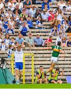 22 July 2018; David Clifford of Kerry celebrates after scoring his side's first goal of the game during the GAA Football All-Ireland Senior Championship Quarter-Final Group 1 Phase 2 match between Monaghan and Kerry at St Tiernach's Park in Clones, Monaghan. Photo by Ramsey Cardy/Sportsfile