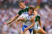 22 July 2018; Ryan McAnespie of Monaghan is tackled by Peter Crowley of Kerry during the GAA Football All-Ireland Senior Championship Quarter-Final Group 1 Phase 2 match between Monaghan and Kerry at St Tiernach's Park in Clones, Monaghan. Photo by Ramsey Cardy/Sportsfile