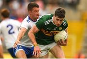 22 July 2018; Paul Geaney of Kerry in action against  Ryan Wylie of Monaghan during the GAA Football All-Ireland Senior Championship Quarter-Final Group 1 Phase 2 match between Monaghan and Kerry at St Tiernach's Park in Clones, Monaghan. Photo by Philip Fitzpatrick/Sportsfile