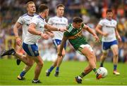 22 July 2018; Micheál Burns of Kerry in action against Fintan Kelly of Monaghan during the GAA Football All-Ireland Senior Championship Quarter-Final Group 1 Phase 2 match between Monaghan and Kerry at St Tiernach's Park in Clones, Monaghan. Photo by Philip Fitzpatrick/Sportsfile
