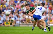 22 July 2018; Paul Geaney of Kerry in action against Ryan Wylie of Monaghan during the GAA Football All-Ireland Senior Championship Quarter-Final Group 1 Phase 2 match between Monaghan and Kerry at St Tiernach's Park in Clones, Monaghan. Photo by Brendan Moran/Sportsfile