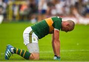22 July 2018; A dejected Kieran Donaghy of Kerry after the GAA Football All-Ireland Senior Championship Quarter-Final Group 1 Phase 2 match between Monaghan and Kerry at St Tiernach's Park in Clones, Monaghan. Photo by Philip Fitzpatrick/Sportsfile