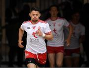 21 July 2018; Captain Mattie Donnelly of Tyrone leads out his fellow players before the GAA Football All-Ireland Senior Championship Quarter-Final Group 2 Phase 2 match between Tyrone and Dublin at Healy Park in Omagh, Tyrone. Photo by Ray McManus/Sportsfile
