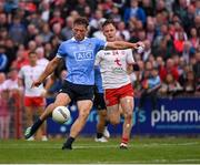 21 July 2018; Paul Flynn of Dublin scores the last point  during the GAA Football All-Ireland Senior Championship Quarter-Final Group 2 Phase 2 match between Tyrone and Dublin at Healy Park in Omagh, Tyrone. Photo by Ray McManus/Sportsfile