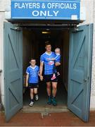 24 July 2018; AIG Insurance has today announced a Dublin GAA jersey takeover, children's charity Aoibheann's Pink Tie's logo will appear on the Dublin GAA jerseys for an upcoming football, ladies football and camogie fixture this summer. Dublin playerJohn Small along with Evie Groves, age 2, right, who benefited from the childrens charity Aoibheann's Pink Tie and her brother Sean Groves, age 8, left, were on hand today to launch Aoibheann's Pink Tie Dublin GAA jersey takeover in Parnell Park. Photo by David Fitzgerald/Sportsfile