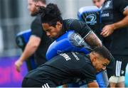 24 July 2018; Joe Tomane and Adam Byrne during Leinster Rugby squad training at Energia Park in Donnybrook, Dublin. Photo by Ramsey Cardy/Sportsfile
