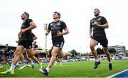 24 July 2018; Jack Conan, Hugh O'Sullivan, centre, and Robbie Henshaw, right, during Leinster Rugby squad training at Energia Park in Donnybrook, Dublin. Photo by Ramsey Cardy/Sportsfile