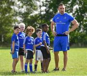 25 July 2018; Leinster's Jack Conan with camp participants during the Bank of Ireland Leinster Rugby Summer Camp at Cill Dara RFC in Kildare. Photo by Seb Daly/Sportsfile