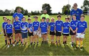 25 July 2018; Leinster's Jack Conan, left, and Devin Toner, right, with camp participants during the Bank of Ireland Leinster Rugby Summer Camp at Cill Dara RFC in Kildare. Photo by Seb Daly/Sportsfile
