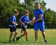 25 July 2018; Leinster's Jack Conan in action with camp participants during the Bank of Ireland Leinster Rugby Summer Camp at Cill Dara RFC, in Kildare. Photo by Seb Daly/Sportsfile
