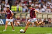 22 July 2018; Shane Walsh of Galway takes a free during the GAA Football All-Ireland Senior Championship Quarter-Final Group 1 Phase 2 match between Kildare and Galway at St Conleth's Park in Newbridge, Co Kildare. Photo by Sam Barnes/Sportsfile
