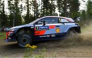 26 July 2018; Thierry Neuville of Belgium and Nicolas Gilsoul of Belgium in their Hyundai i20 Coupe WRC in action during Shakedown prior to Round 8 of the FIA World Rally Championship in Jyväskylä, Finland. Photo by Philip Fitzpatrick/Sportsfile