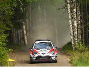 26 July 2018; Esapekka Lappi of Finland and Janne Ferm of Finland in their TOYOTA GAZOO Racing WRT in action during Shakedown prior to Round 8 of the FIA World Rally Championship in Jyväskylä, Finland. Photo by Philip Fitzpatrick/Sportsfile