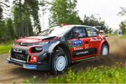 26 July 2018; Craig Breen of Ireland and Scott Martin of Great Britain in their Citroën C3 WRC in action during a Shakedown prior to Round 8 of the FIA World Rally Championship in Jyväskylä, Finland. Photo by Philip Fitzpatrick/Sportsfile
