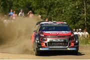 27 July 2018; Craig Breen of Ireland and Scott Martin of Great Britain in their Citroën C3 WRC on Stage 4, Assamaki, during Round 8 of the FIA World Rally Championship in Finland. Photo by Philip Fitzpatrick/Sportsfile