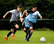 28 July 2018; Evan O'Reilly of Belvedere of Belvedere, left, in action against Adam O'Leary of Arklow Town, during Ireland's premier underaged soccer tournament, the Volkswagen Junior Masters. The competition sees U13 teams from around Ireland compete for the title and a €2,500 prize for their club, over the days of July 28th and 29th, at AUL Complex in Dublin. Photo by Seb Daly/Sportsfile