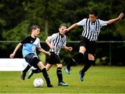 28 July 2018; Tadgh Hickey of Belvedere, left, in action against Luke McGrath of Arklow Town, during Ireland's premier underaged soccer tournament, the Volkswagen Junior Masters. The competition sees U13 teams from around Ireland compete for the title and a €2,500 prize for their club, over the days of July 28th and 29th, at AUL Complex in Dublin. Photo by Seb Daly/Sportsfile