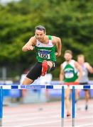 28 July 2018; Thomas Barr of Ferrybank A.C., Co. Waterford, competing in the Senior Men 400mH event during the Irish Life Health National Senior T&F Championships Day 1 at Morton Stadium in Santry, Dublin. Photo by Sam Barnes/Sportsfile