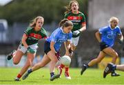 28 July 2018; Noelle Healy of Dublin in action against Clodagh McMenamon of Mayo during the TG4 All-Ireland Ladies Football Senior Championship qualifier Group 1 Round 3 match between Dublin and Mayo at Dr Hyde Park in Roscommon. Photo by Brendan Moran/Sportsfile