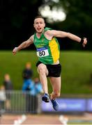 28 July 2018; Denis Finnegan of An Riocht A.C., Co. Kerry, competing in the Senior Men Triple Jump event during the Irish Life Health National Senior T&F Championships Day 1 at Morton Stadium in Santry, Dublin. Photo by Sam Barnes/Sportsfile