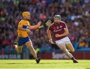 28 July 2018; Cathal Mannion of Galway in action against Colm Galvin of Clare during the GAA Hurling All-Ireland Senior Championship semi-final match between Galway and Clare at Croke Park in Dublin. Photo by Ray McManus/Sportsfile