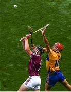 28 July 2018; Aidan Harte of Galway in action against Peter Duggan of Clare during the GAA Hurling All-Ireland Senior Championship semi-final match between Galway and Clare at Croke Park in Dublin. Photo by Ramsey Cardy/Sportsfile