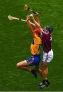 28 July 2018; Peter Duggan of Clare in action against Aidan Harte of Galway during the GAA Hurling All-Ireland Senior Championship semi-final match between Galway and Clare at Croke Park in Dublin. Photo by Ramsey Cardy/Sportsfile