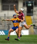 28 July 2018; Gearoid McInerney of Galway in action against Podge Collins of Clare during the GAA Hurling All-Ireland Senior Championship semi-final match between Galway and Clare at Croke Park in Dublin. Photo by David Fitzgerald/Sportsfile