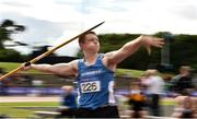 28 July 2018; Luke O'Brien of Waterford A.C., Co Waterford, competing in the Senior Men Javelin event during the Irish Life Health National Senior T&F Championships Day 1 at Morton Stadium in Santry, Dublin. Photo by Sam Barnes/Sportsfile