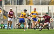 28 July 2018; Cathal Mannion of Galway blocks a late point attempt from Ian Galvin of Clare in the final seconds during the GAA Hurling All-Ireland Senior Championship semi-final match between Galway and Clare at Croke Park in Dublin. Photo by David Fitzgerald/Sportsfile