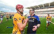 28 July 2018; Clare joint manager Gerry O'Connor with John Conlon following the GAA Hurling All-Ireland Senior Championship semi-final match between Galway and Clare at Croke Park in Dublin. Photo by David Fitzgerald/Sportsfile