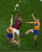28 July 2018; Tony Kelly, left, and David McInerney of Clare in action against Jonathan Glynn of Galway during the GAA Hurling All-Ireland Senior Championship semi-final match between Galway and Clare at Croke Park in Dublin. Photo by Ramsey Cardy/Sportsfile
