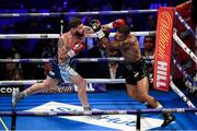 28 July 2018; Conor Benn, right, and Cedric Peynaud during their WBA Continental Welterweight Championship bout at The O2 Arena in London, England. Photo by Stephen McCarthy/Sportsfile