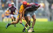 28 July 2018; John Conlon of Clare in action against Aidan Harte of Galway during the GAA Hurling All-Ireland Senior Championship semi-final match between Galway and Clare at Croke Park in Dublin. Photo by David Fitzgerald/Sportsfile